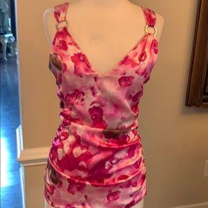 Stunning VERSACE silk top in pink silk.